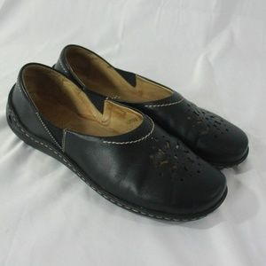Womens Josef Seibel Black Comfort Shoes Flats 38